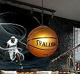 WHYING Basketball E27 LED Pendant Light Living Room Chandelier Ceiling Light, LOFT,BAR, Dinning Room, Kids Room,Bulb included