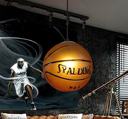 Kids Pendant Lighting (WHYING Basketball E27 LED Pendant Light Living Room Chandelier Ceiling Light, LOFT,BAR, Dinning Room, Kids Room,Bulb included)