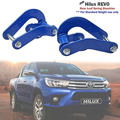 1 Pair Extended Rear Leaf Spring Comfort Shackles Toyota Hilux Revo 2015 M70 M80 2015 2016 GUN136R (Toyota Shackles)