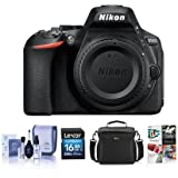 Nikon D5600 Digital SLR Camera Body, Black - Bundle With 16GB SDHC Card, Camera Case, Cleaning Kit, Software Package