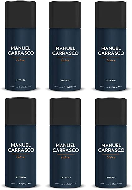 Manuel Carrasco Libre Desodorante Spray 150 ml. Pack 6 Unidades ...