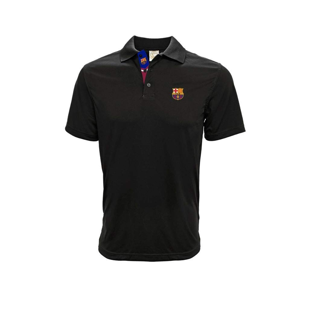 FCB Barcelona - Polo de Manga Corta, Color Negro, S, Negro: Amazon ...