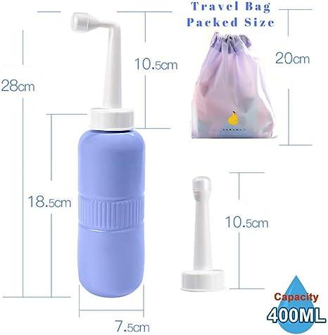 340 ml Reise-Bidet Hand-Bidet f/ür Toilette tragbarer Bidet-Spr/üher Peri Flasche 350 ml f/ür Erwachsene und Kinder nach der Geburt