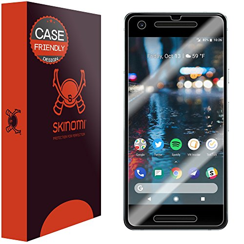 Price comparison product image Google Pixel 2 Screen Protector (Case Friendly)[2-Pack],  Skinomi TechSkin Full Coverage Clear HD Anti-Bubble Film Easy Install Screen Protector for Google Pixel 2