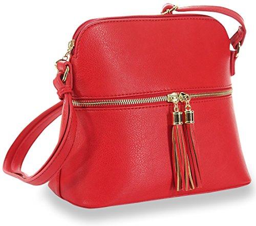 Tassel Accented Crossbody Sling (Accented Sling Handbag)