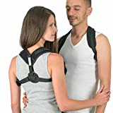 Posture Corrector by Easeright - Easy Adjustable for Women and Men - Discreet and Comfortable Under Clothes - Smart Reminder Device to Keep The Back and Neck Straight
