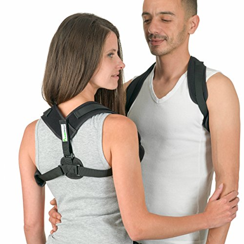 Posture Corrector by Easeright - Easy Adjustable for Women and Men - Discreet and Comfortable Under Clothes - Smart Reminder Device to Keep The Back and Neck Straight by EaseRight