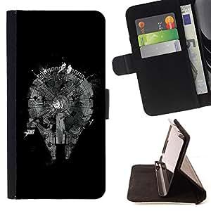- cool abstract black monochrome plan - - Prima caja de la PU billetera de cuero con ranuras para tarjetas, efectivo desmontable correa para l Funny HouseFOR Sony Xperia Z2 D6502