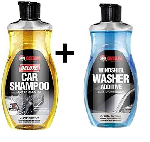 RDE GetSun Combo Car Windshield Washer Shampoo  amp; Additive Liquid Vehicle Glass Cleaner  500ml
