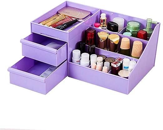 LOVEMW Caja Almacenamiento de Organizador de Paleta de MaquillajeOrganizador de joyería multifunción para Maquillaje Accesorios cosméticos Cajas de Almacenamiento de Maquillaje,Purple: Amazon.es: Hogar
