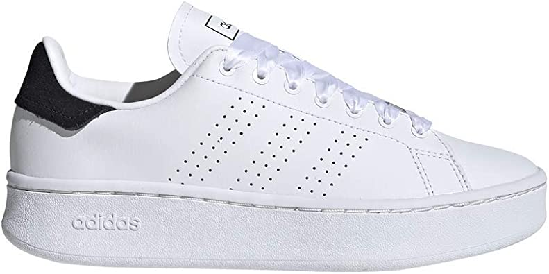 Adidas Advantage Bold Leather Perforated Side Stripe Tennis