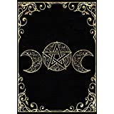 """Book Of Shadows: Blank Lined Journal, Empty Grimoire Journal, Triple Goddess Gold Cover (7""""x10"""", College Ruled, 110 Pages)"""
