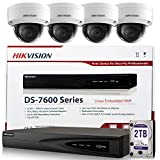 Hikvision Security Camera System DS-7604NI-E1/4P 4 Channel PoE NVR 6MP Plug & Play Bundle Kit w/ 4 x Hikvision IP Camera DS-2CD2143G0-I 4MP 4.0mm Lens (Replacement DS-2CD2142FWD-I) English Version