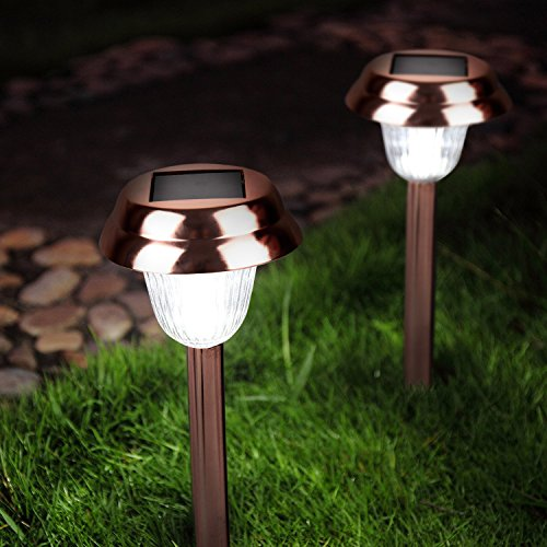 Ohuhu Stainless Steel Solar Garden Lights / Path Lights, Landscape Solar Light for Outdoor Path