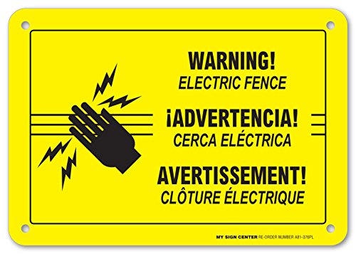 Warning Electric Fence Sign - 10