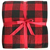 """Gireshome 50""""60"""" Red High Density Thick Soft sherpa Blanket Plaid Buffalo Check double side sprin Winter thick warm blanket super warm soft throw on Sofa/Bed/Travel"""