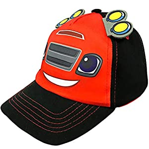 Age 2-4 2 Piece Design Set Nickelodeon Toddler Boys Blaze Baseball Caps