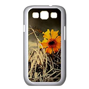 Orange Flower Watercolor style Cover Samsung Galaxy S3 I9300 Case (Autumn Watercolor style Cover Samsung Galaxy S3 I9300 Case)