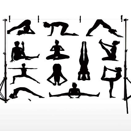 Amazon.com : Yoga Photography Background, Various Yoga and ...