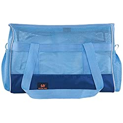 Portable Pet Dog Carrier Bag Airline Approved Dog Travel Carrying Bag Soft-Sided Pet Travel Bag for Cats,Puppies (L, Blue)