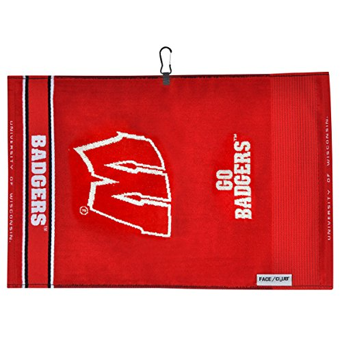 Team Effort Wisconsin Badgers Face/Club Jacquard Towel