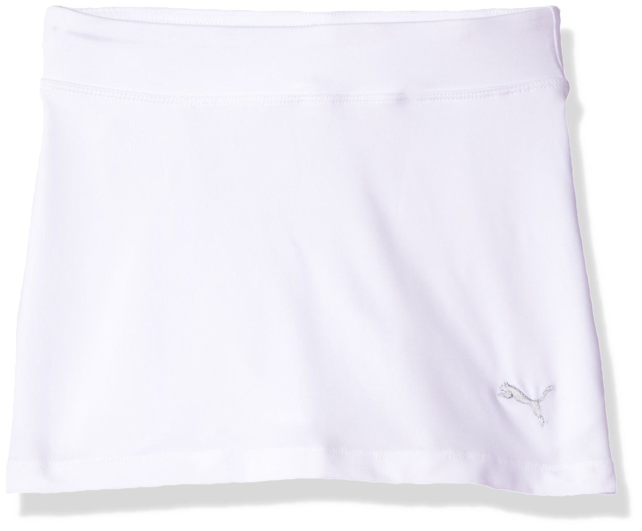 PUMA Golf 2017 Girl's Solid Knit Skirt, Bright White, Large by PUMA