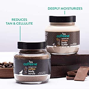 mCaffeine Body Polishing Kit | Deep Moisturizing, Tan Removal | Body Scrub, Body Butter | All Skin | Paraben & Mineral…