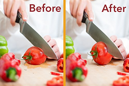 Best Manual Stainless Steel Knife Sharpener for Straight and Serrated Knives, Ceramic and Tungsten - Easy Sharpening for Dull Steel, Paring, Chefs and Pocket Knives, Sharpens Scissors by Zulay Kitchen by Zulay Kitchen (Image #4)