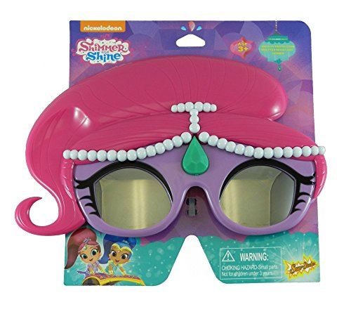 Sunstaches Nickelodeon Shimmer and Shine Shimmer Sunglasses, Party Favors, UV400 by Sun-Staches
