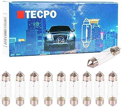 Tecpo 10x C5w Soffitte Autolampe Glühbirne 12v 5w 38 Mm Kennzeichenbeleuchtung Auto