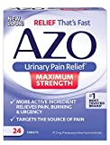 AZO Maximum Strength Urinary Pain Relief | Fast effective UTI Pain Relief | 24 Tablets