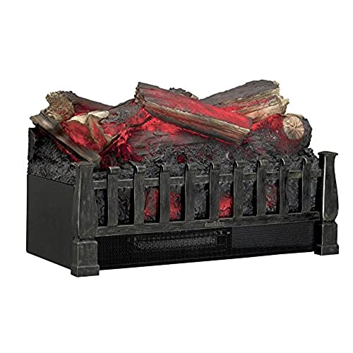 Electric fireplace inserts with logs amazon duraflame dfi021aru electric log set heater with realistic ember bed antique bronze teraionfo