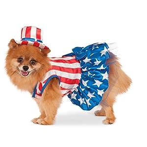 Rubie's 4th of July Pet Costume, Medium, Patriotic Pooch Girl