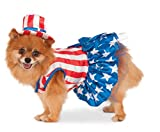 Rubie's 4th of July Pet Costume, Small, Patriotic Pooch Girl