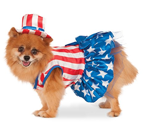 [Rubie's 4th of July Pet Costume, Medium, Patriotic Pooch Girl] (Patriotic Group Costumes)