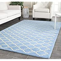 Safavieh Chatham Collection CHT930A Handmade Blue Grey Premium Wool Area Rug (6 x 9)