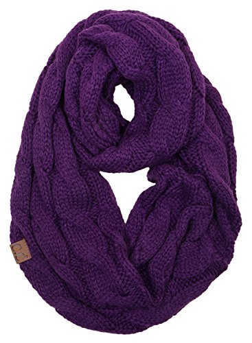 S1-6100-74 Funky Junque Infinity Scarf - Dark Purple from Funky Junque