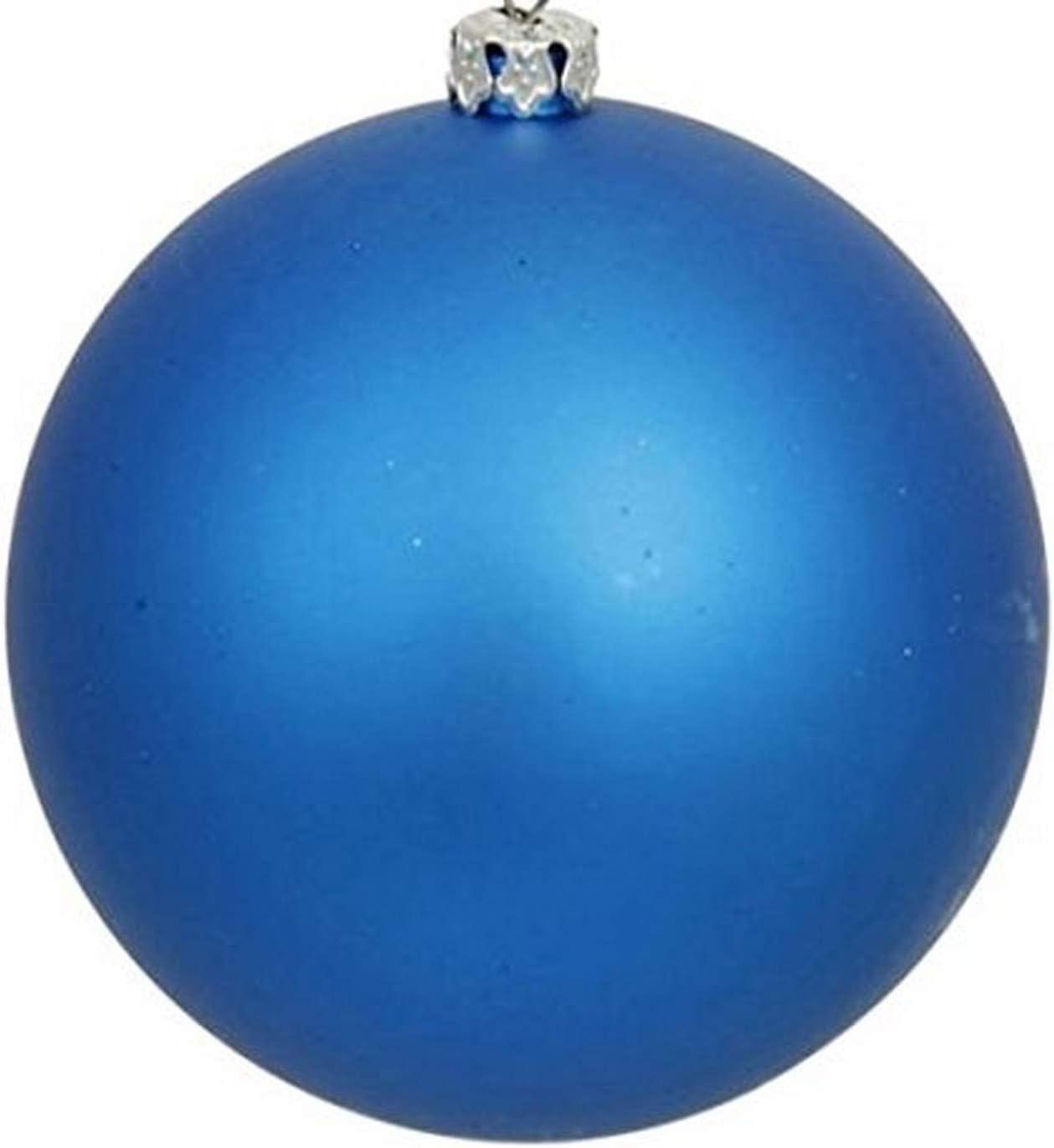 2.5 Vickerman 31453943 60 Count Matte Teal Shatterproof Christmas Ball Ornaments Green