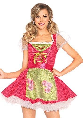 Leg Avenue Women's Beer Garden Gretel Costume, Pink, (Leg Avenue Garden)