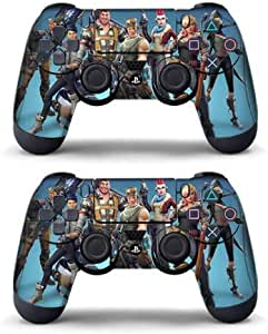 Pegatina Fortnit de 2 pieza para controlador Playstation 4 - Controlador PS4 - Calidad profesional - Juego Fortnit en Playstation - Cut Out (Tema 2) : Amazon.es: Videojuegos