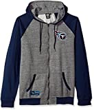 NFL Men's Full Zip Fleece Hoodie Sweatshirt Jacket Contrast Raglan, Team Logo Color