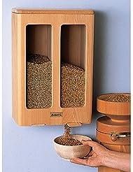 Hawos Granary Double Grain Silo For 2 X 11lb 5kg Of Grain Grain Storage Dispenser