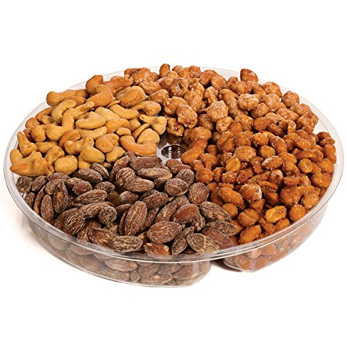 Jaybee's Nuts Gift Tray - Great Holiday, Corporate, Birthday Gift, or as Everyday Healthy Snack - Cashews, Smoked Almonds, Toffee & Honey Roasted Peanuts, Vegetarian Friendly and Kosher by Jaybee's (Image #2)'
