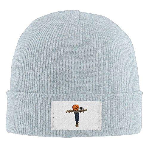 (NO4LRM Men Women Halloween Scarecrow Pumpkin Warm Stretchy Knit Wool Beanie Hat Solid Daily Skull Cap Outdoor Winter)