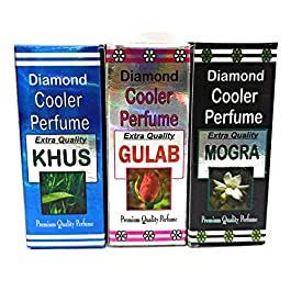 INDRA SUGANDH BHANDAR Khus Gulab Mogra Cooler Perfumes -Combo of 3 x 22 ml