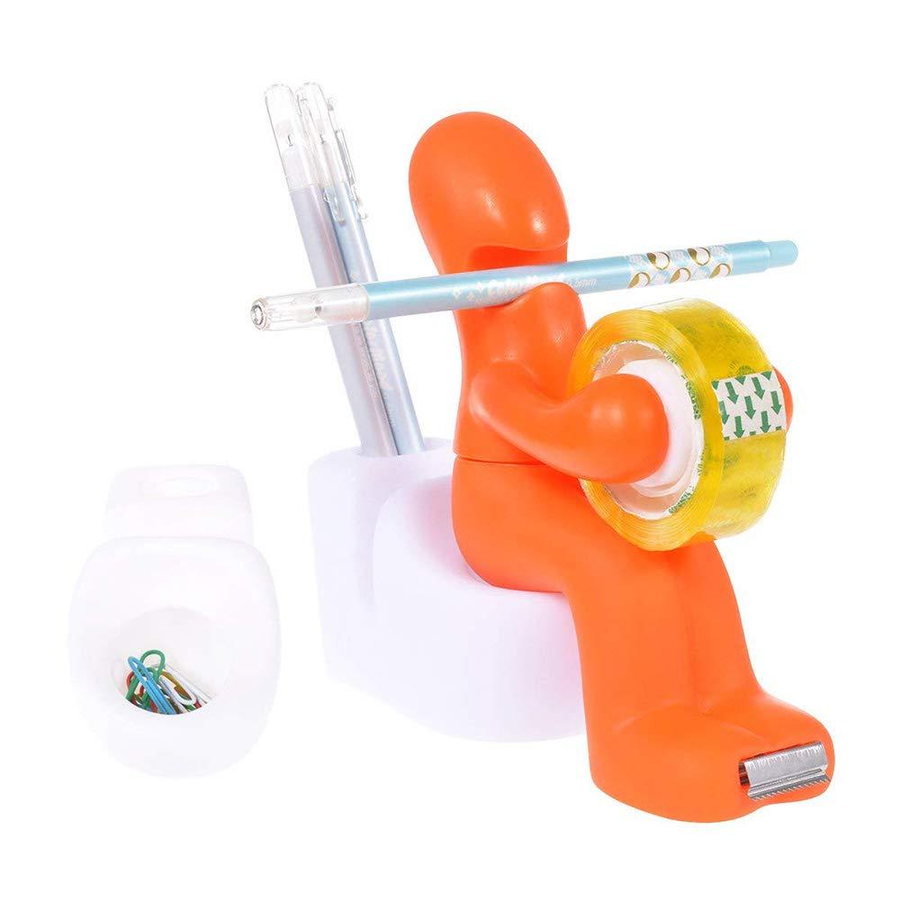 Wuudi Nastro di Carta igienica Cool Pull Piccola Persona Nastro di Carta igienica Regali promozionali Orange