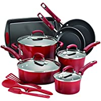 14-Piece Hard Enamel Nonstick Cookware Set