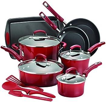 14-Piece Hard Enamel Nonstick Cookware Set