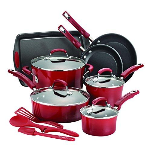 rachael-ray-14-piece-hard-enamel-nonstick-cookware-set-red