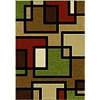 Orian Rugs Modern Design Garden Sonoma Brizo Multi Runner Rug (2 x 6)